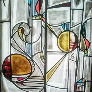 Contemporary Stained Glass Composition
