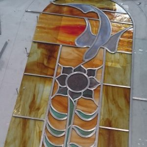 Stained window in progress