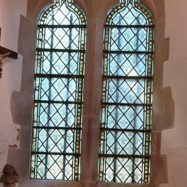 Lead light windows for churches