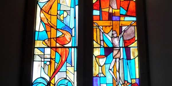 Large Church Stained Glass Window